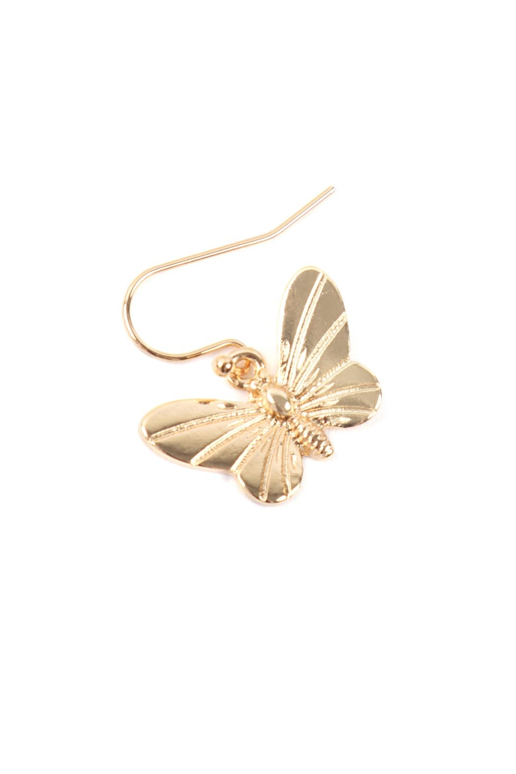 Riah Fashion Butterfly 3 Set Earrings - Back Cropped Image