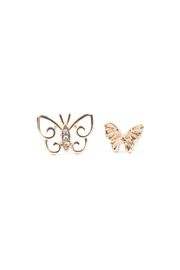 Riah Fashion Butterfly 3 Set Earrings - Other