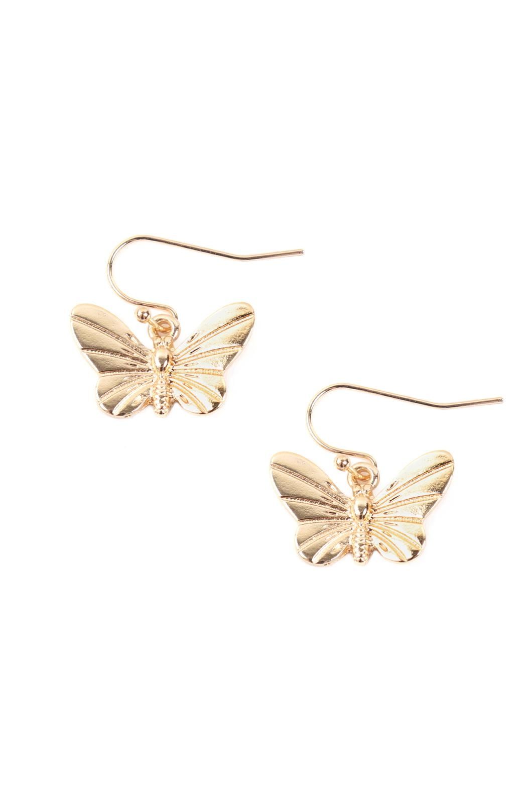 Riah Fashion Butterfly 3 Set Earrings - Side Cropped Image