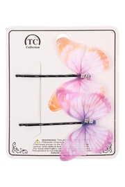 Riah Fashion Butterfly Assorted Hair Pin Set - Product Mini Image