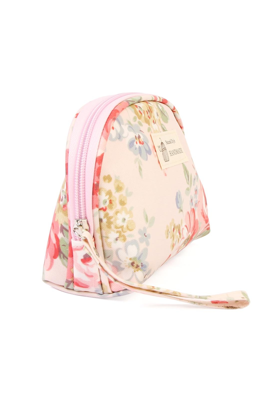 Riah Fashion Butterfly & Birds Cosmetic Bag - Front Full Image