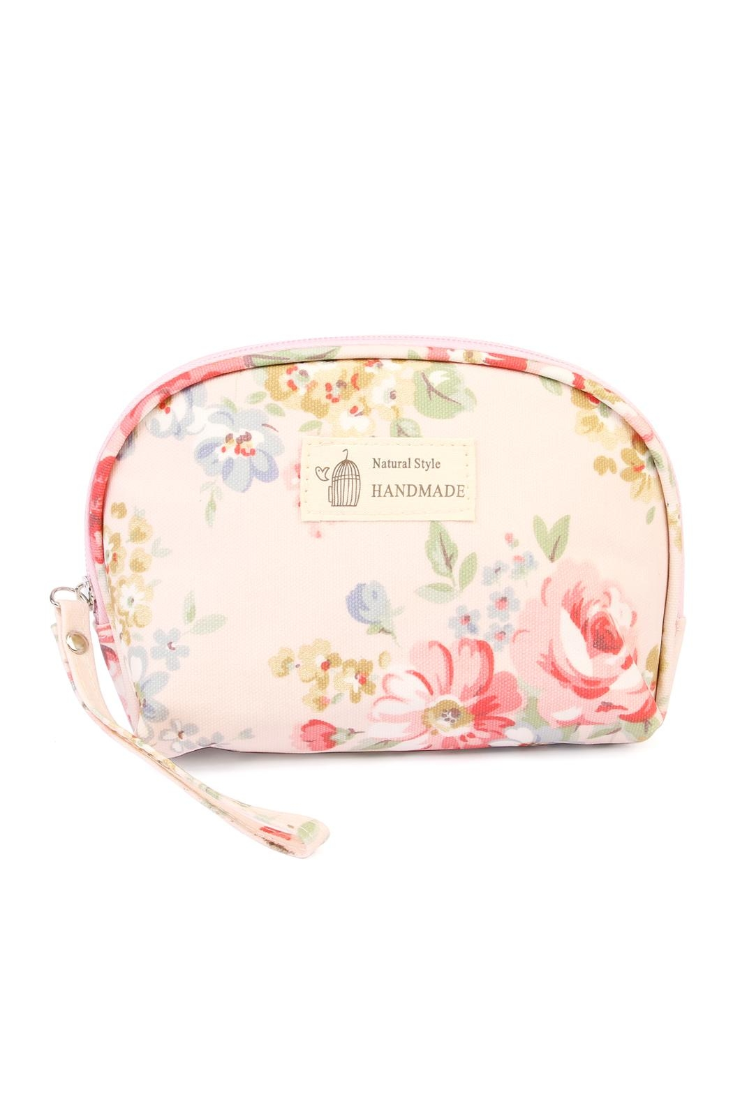 Riah Fashion Butterfly & Birds Cosmetic Bag - Main Image