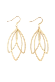 Riah Fashion Butterfly Earrings - Front full body