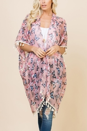 Riah Fashion Butterfly Floral Cardigan - Product Mini Image