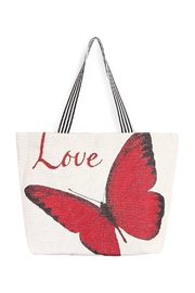 Riah Fashion Butterfly Love Tote - Product Mini Image