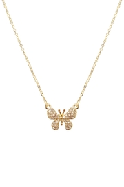 Riah Fashion Butterfly-Pave-Charm-Pendant-Necklace - Product Mini Image