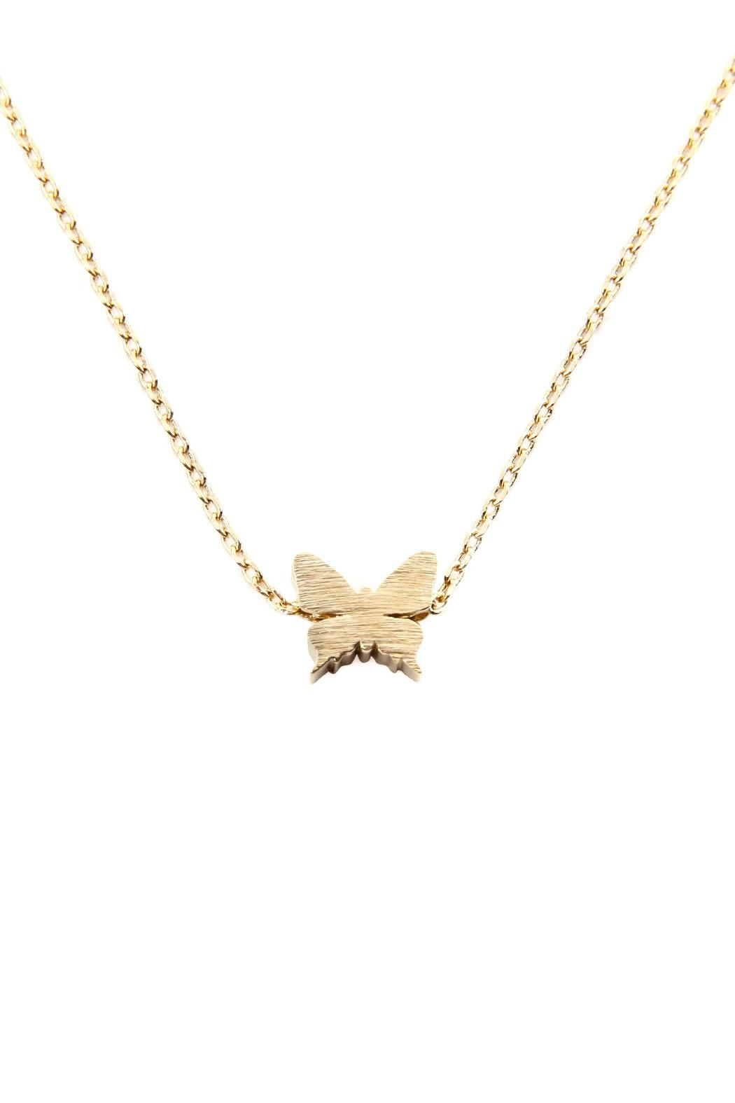 Riah Fashion Butterfly Pendant Necklace - Main Image