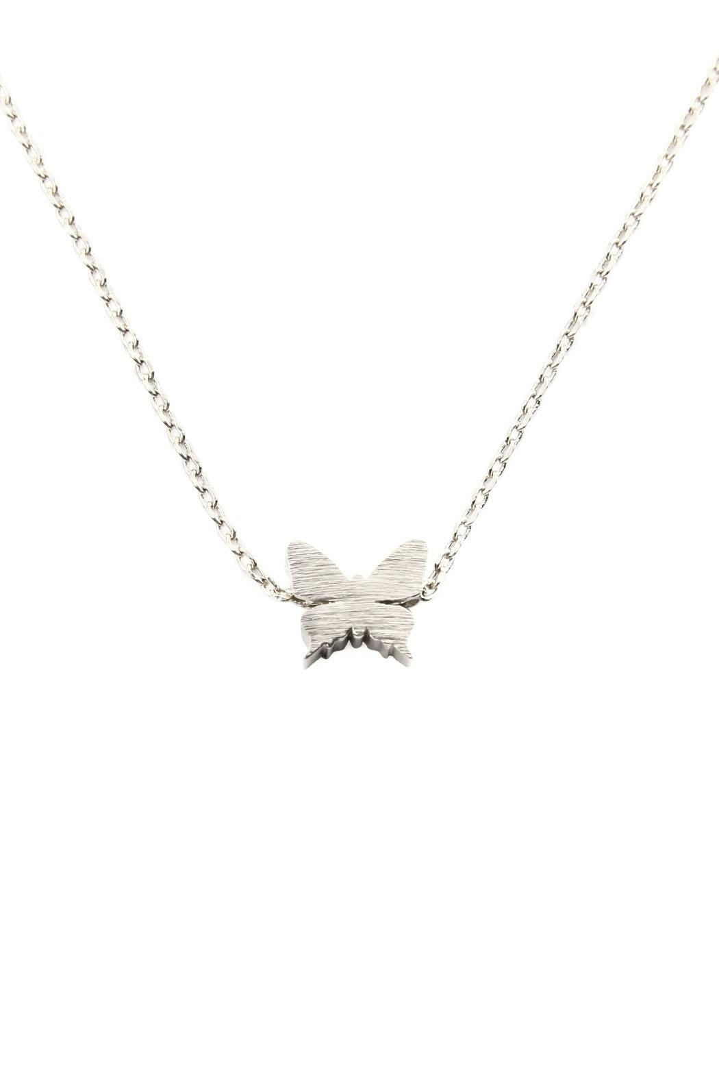 Riah Fashion Butterfly Pendant Necklace - Front Cropped Image