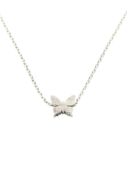Riah Fashion Butterfly Pendant Necklace - Front cropped
