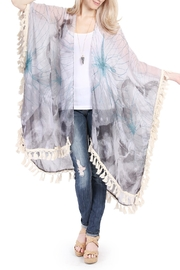 Riah Fashion Butterfly Print Tassel Cardigan - Product Mini Image