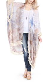 Riah Fashion Butterfly Print Tassel Cardigan - Other