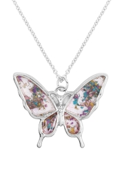 Riah Fashion Butterfly-Resin-Pendant-Necklace - Product Mini Image