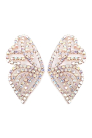 Riah Fashion Butterfly Rhinestone-Post-Earrings - Product Mini Image