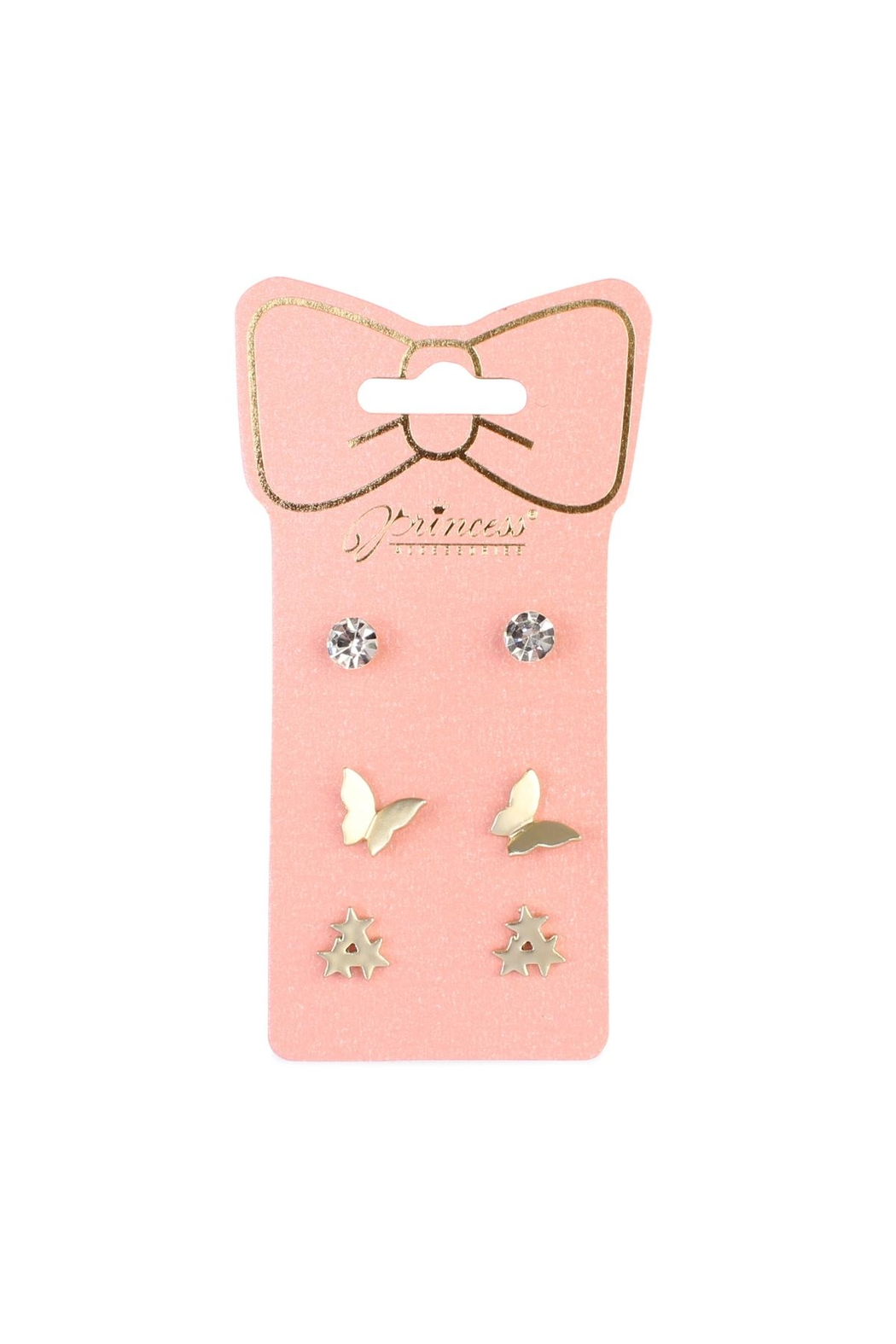 Riah Fashion Butterfly-&-Star 3-Pair Earring-Set - Main Image