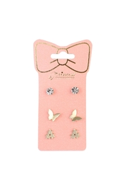 Riah Fashion Butterfly-&-Star 3-Pair Earring-Set - Front cropped