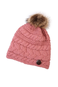 Shoptiques Product: Button Knitted Pom Beanie