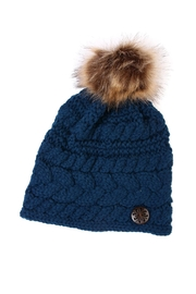 Riah Fashion Button Knitted Pom Beanie - Product Mini Image