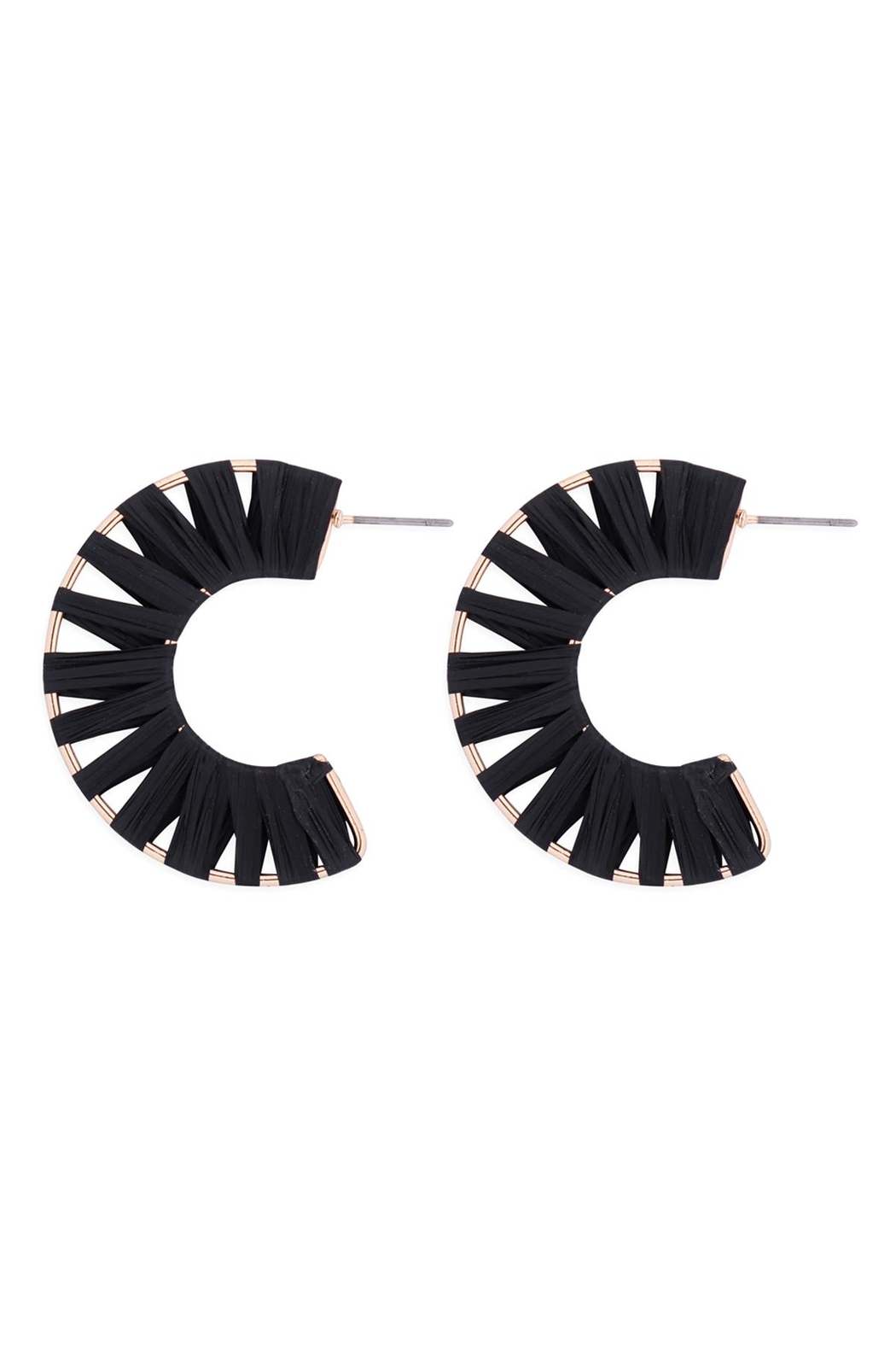 Riah Fashion C-Shape-Wrap-Earrings - Main Image