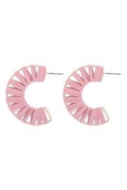 Riah Fashion C-Shape-Wrap-Earrings - Front cropped
