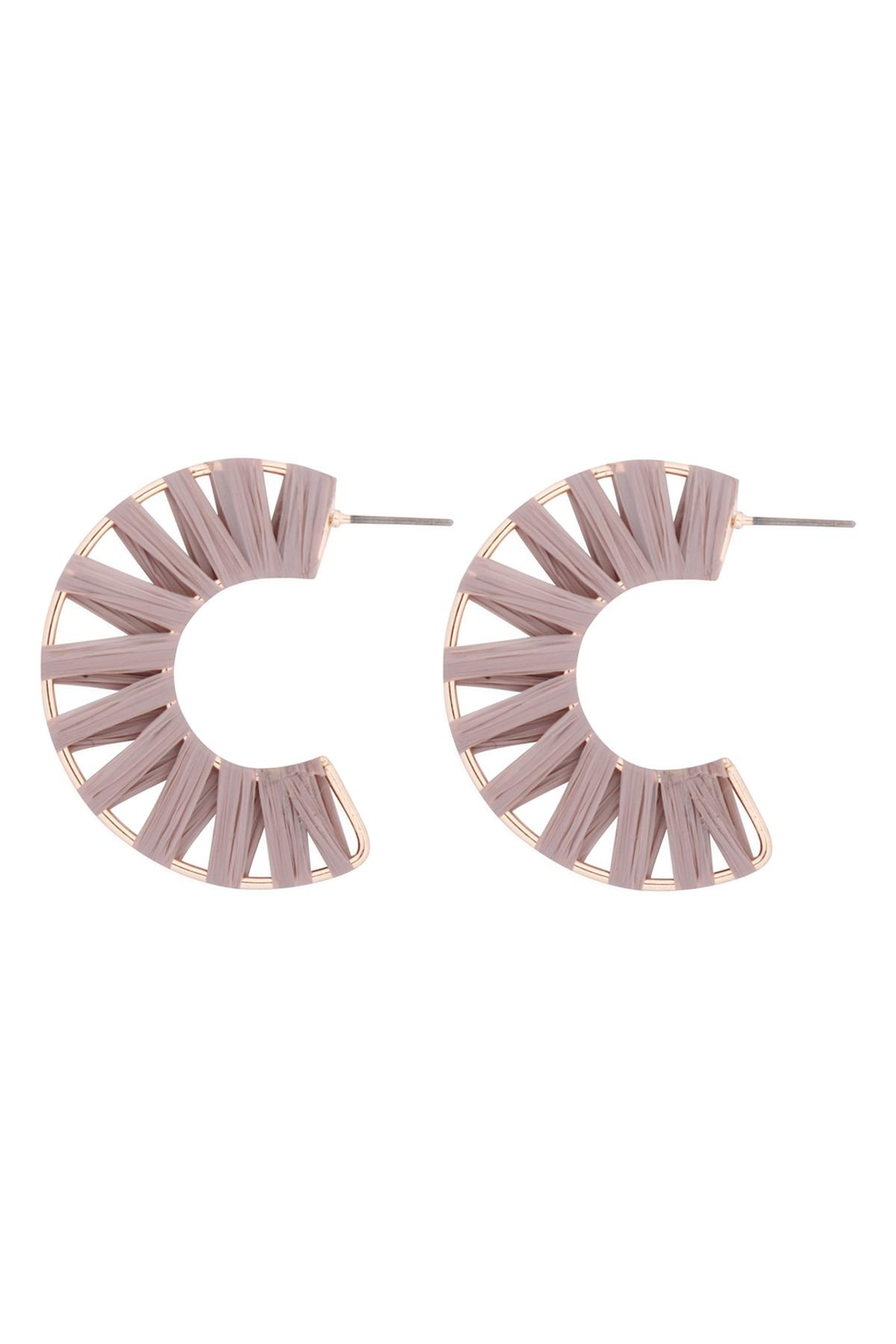 Riah Fashion C-Shape-Wrap-Earrings - Front Cropped Image