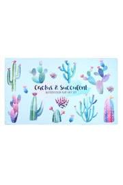 Riah Fashion Cactus-And-Succulent Pattern Towel - Product Mini Image