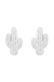 Riah Fashion Cactus-Cast-Textured-Post-Earrings - Front cropped