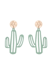 Riah Fashion Cactus-Filigree-Drop-Post-Earrings - Front cropped