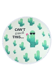 Riah Fashion Cactus-Pattern Round Towel - Product Mini Image