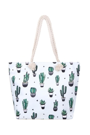 Riah Fashion Cactus-Plant-Print Tote Bag - Front cropped