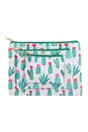 Riah Fashion Cactus Print-3-Set Pouch - Product Mini Image