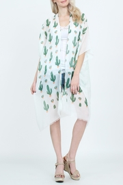Riah Fashion Cactus-Print Light-Weight Cardigan - Product Mini Image