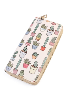 Shoptiques Product: Cactus Print Zipper-Wallet
