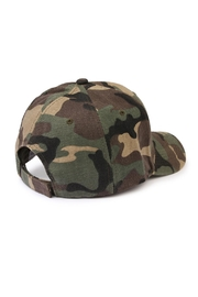 Riah Fashion Camouflage  Baseball Cap - Front full body