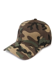 Riah Fashion Camouflage  Baseball Cap - Front cropped