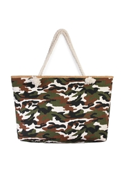 Riah Fashion Camouflage Print Tote - Product Mini Image