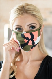 Riah Fashion Camouflage Reusable Pleated Face Mask For Adults - Product Mini Image