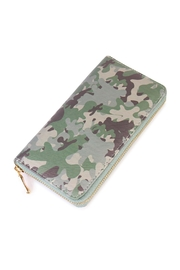 Riah Fashion Camouflage Wallet Woven - Front cropped