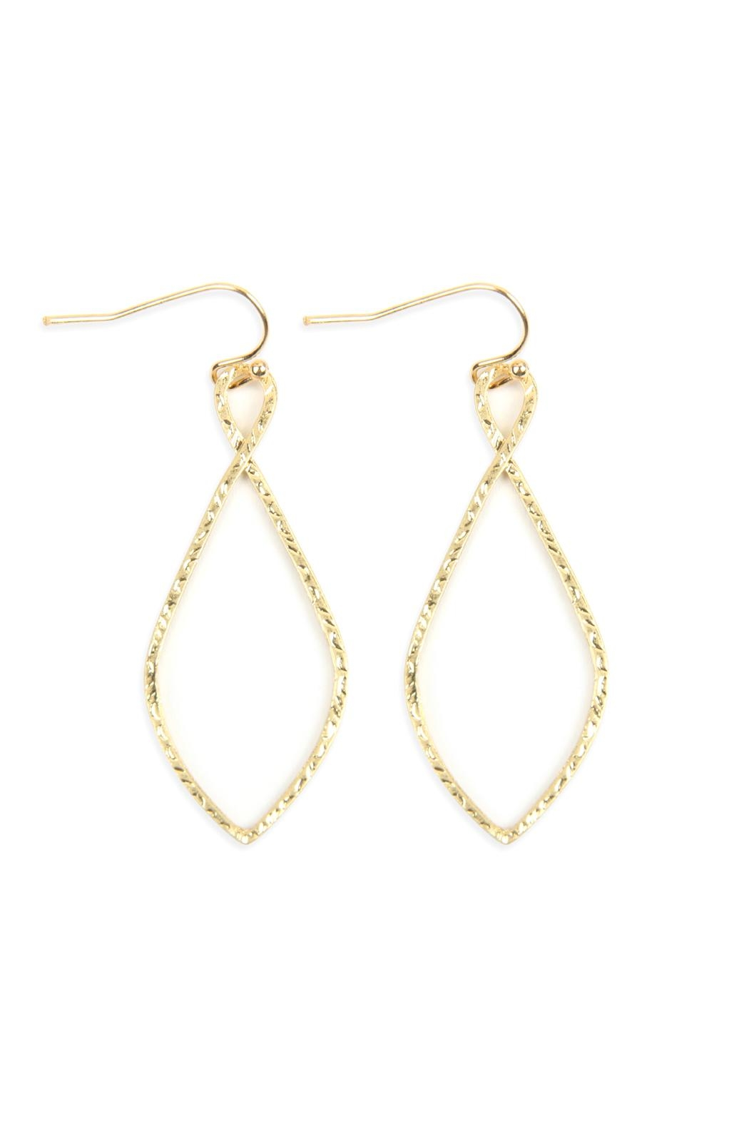 Riah Fashion Cast-Christian Symbol Hook-Drop-Earrings - Front Cropped Image