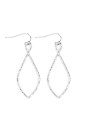 Riah Fashion Cast-Christian Symbol Hook-Drop-Earrings - Front cropped