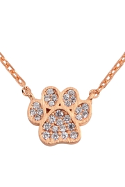 Riah Fashion Cast-Paw-Crystal-Pave-Pendant-Necklace - Product Mini Image
