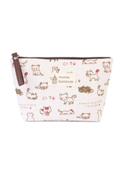 Riah Fashion Cat Print Cosmetic Pouch - Product Mini Image
