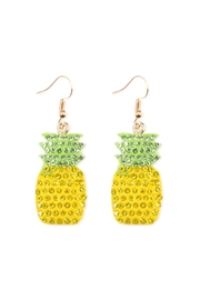 Riah Fashion Ceramic Pineapple Earrings - Front cropped