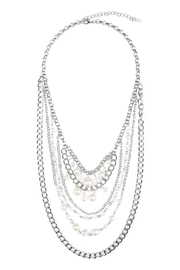 Riah Fashion Chain Layered Necklace - Product Mini Image