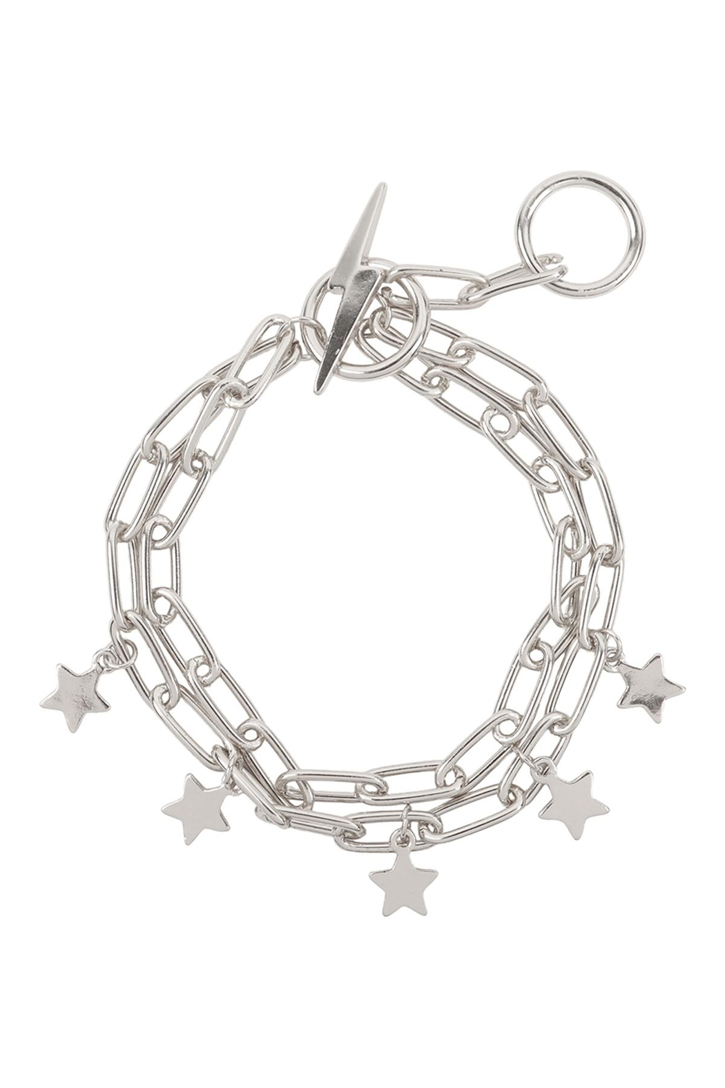 Riah Fashion Chain Layered With Star Toggle - Front Cropped Image