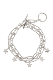 Riah Fashion Chain Layered With Star Toggle - Front cropped