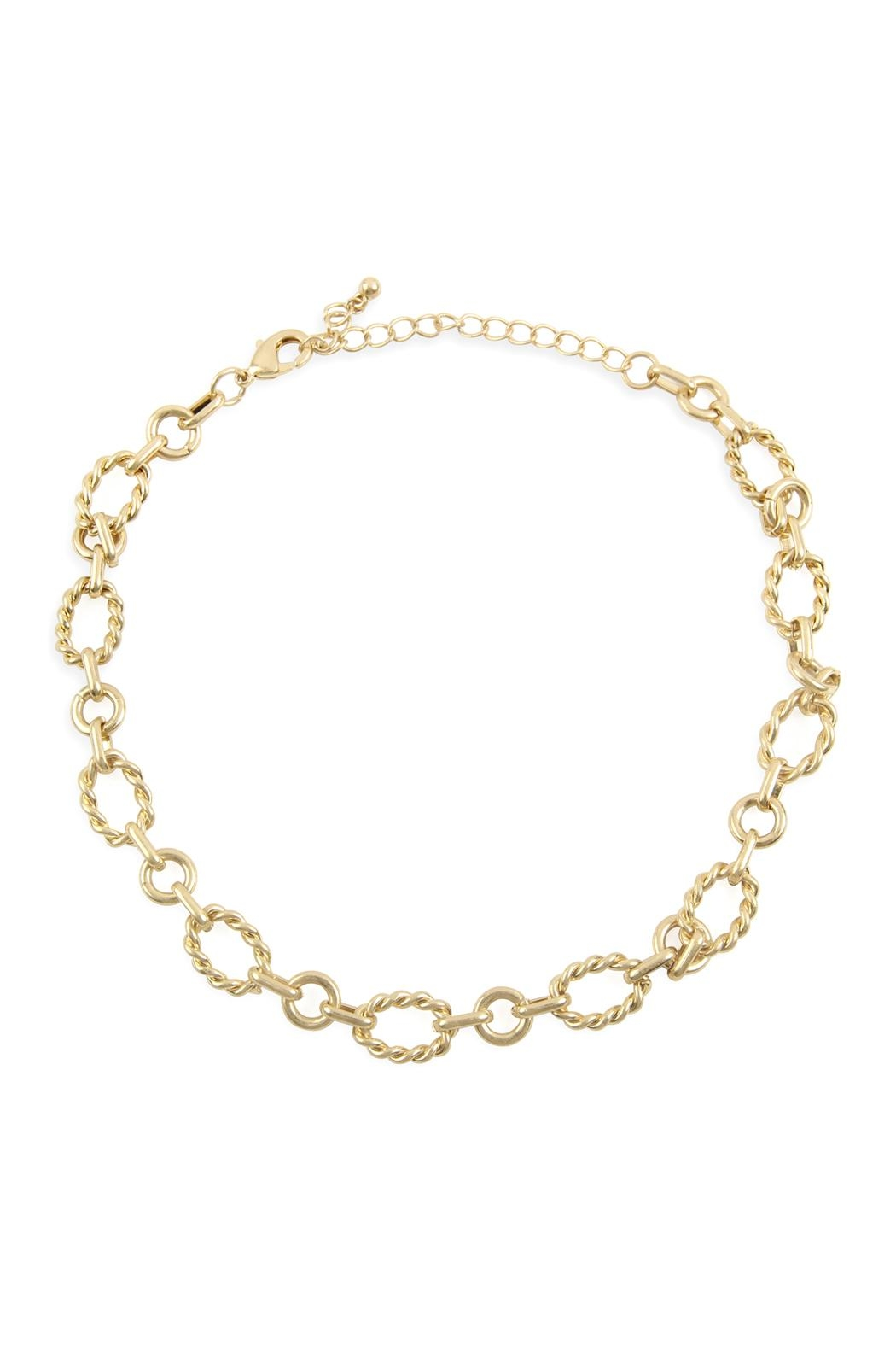 Riah Fashion Chain Link Necklace - Main Image