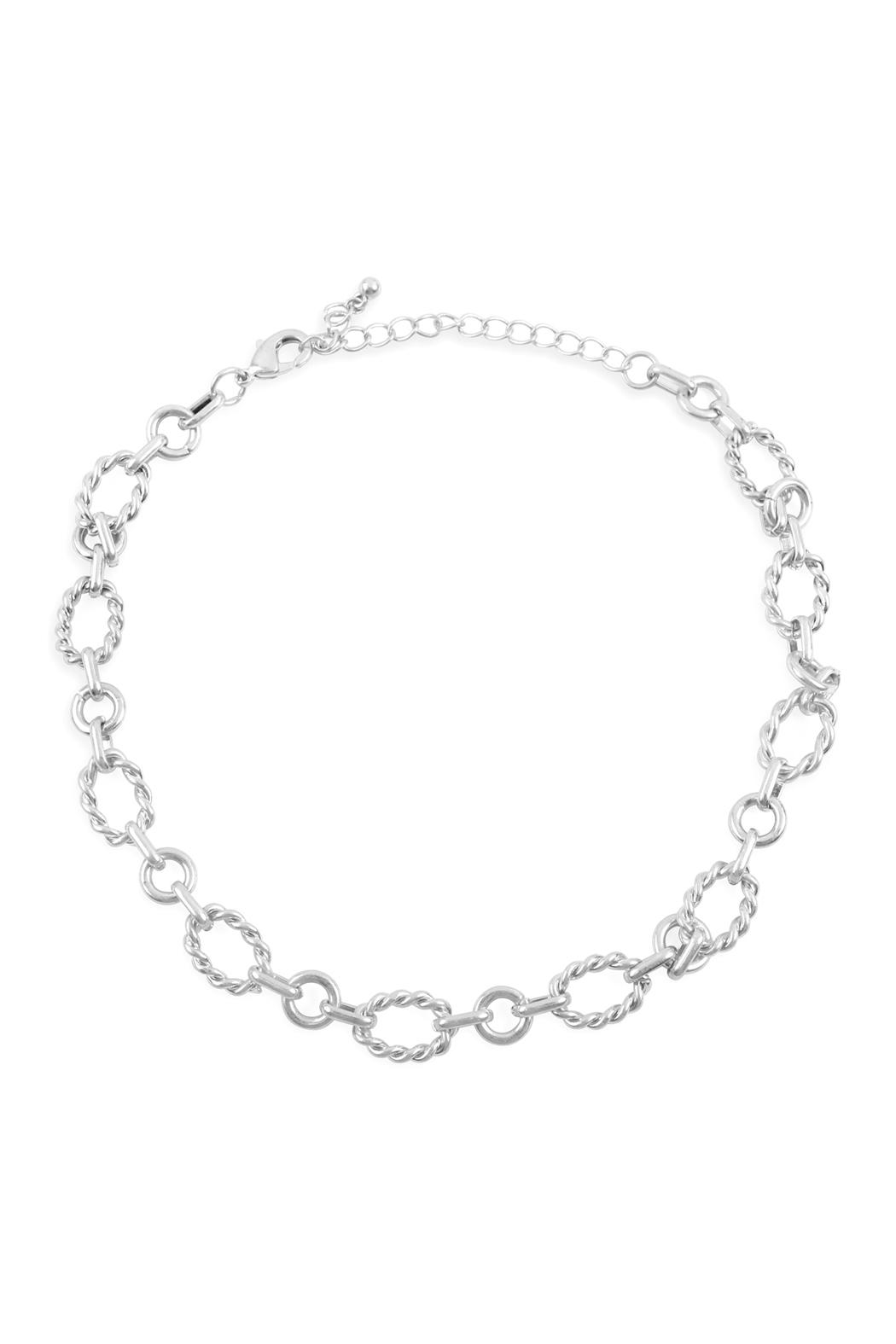 Riah Fashion Chain Link Necklace - Front Cropped Image