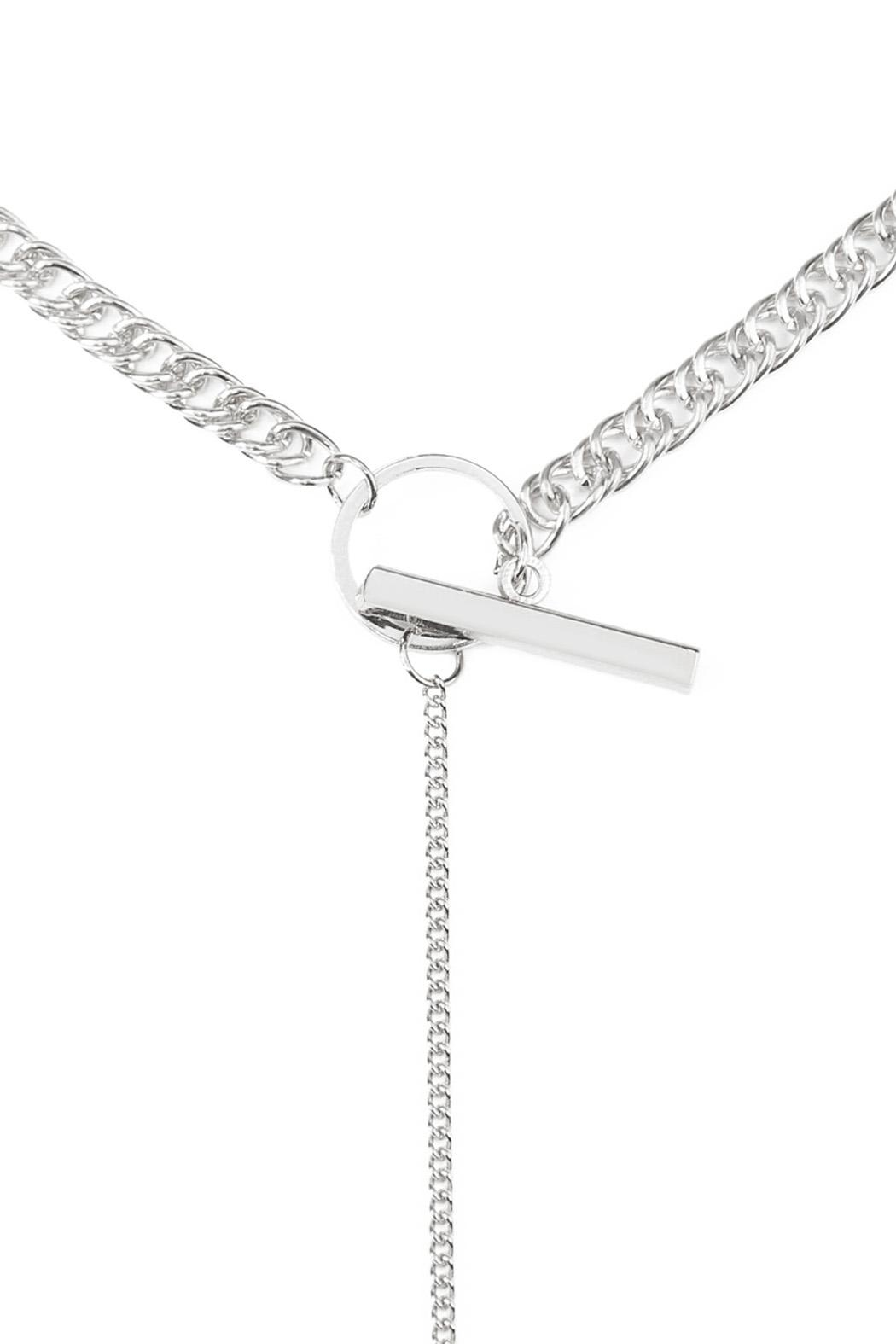 Riah Fashion Chain Pendant Necklace - Front Full Image