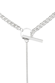 Riah Fashion Chain Pendant Necklace - Front full body