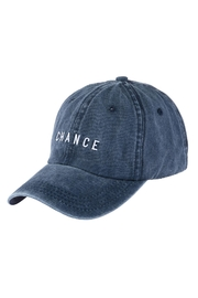 Riah Fashion Chance Embroidered Acid Wash Cap - Front cropped